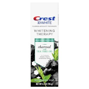 3D Whitening Therapy Charcoal Toothpaste, Tea Tree Oil